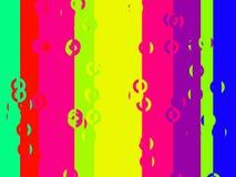 vertikala färgglada band för stångcirklar stock illustrationer