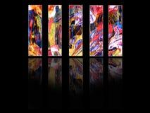 vertikala kulöra paneler vektor illustrationer
