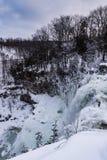 Vertikala nedgångar - Chittenango faller delstatsparken - Cazenovia, nytt Y Royaltyfri Foto
