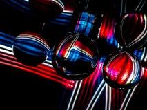 Vertikala och horisontalvågor av rött, vitt, och blått gör en Ab royaltyfri fotografi