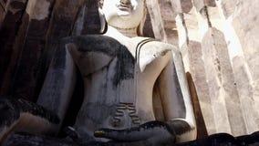 Vertikala Pan Down Huge Buddha Statue stock video