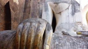Vertikala Pan Up Huge Buddha Statue lager videofilmer