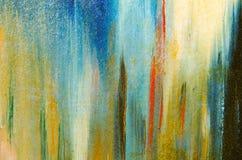 Vertikala sudd av vattenfärgmålarfärg Royaltyfri Foto