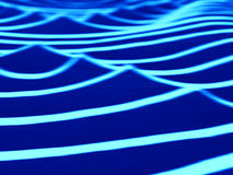 Vertikala vibrerande blåa havvågor gör suddig abstraktionbakgrundslodisar Fotografering för Bildbyråer