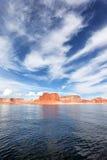 Vertikale Ansicht des Sees Powell Stockbild