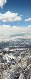 Vertikale Ansicht eines Dorfs Lizenzfreie Stockfotografie