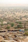 Vertikale Ansicht von Hombori und von Einfassungen in Mali Stockbilder