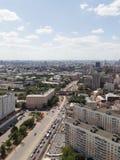 Vertikale Ansicht von Moskau von der Spitze Stockfotos
