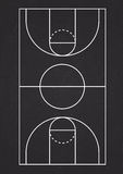 Vertikale Basketballplatzlinie Vektor Lizenzfreie Stockbilder