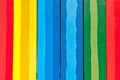 Vertikale bunte Bretter Stockbilder