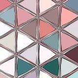 Vertikale Dreieckmosaikverzierung in der Knickente und in der Grenadine lizenzfreie abbildung