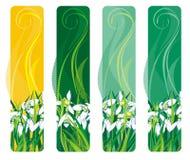 Vertikale Fahne mit Frühlingsblume Stockfoto