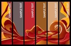 Vertikale Fahnen-Serie lizenzfreie abbildung