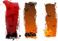 Vertikale grungy Halloween-Fahnen Stockfotografie