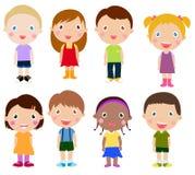 Vertikale Gruppe Kinder Lizenzfreies Stockfoto