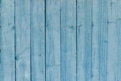 Vertikale hölzerne Latten, alte blaue Farbe Hintergrund Lizenzfreie Stockfotografie