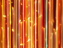 Vertikale helle glühende Linien als Hintergrund Stockfotografie
