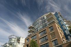 Vertikale Häuser Stockfotos