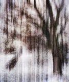 Vertikale klare kristallisierte drastische Abstraktion des Baums Stockfoto
