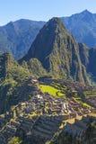 Vertikale Landschaft von Machu Picchu nahe Cusco, Peru lizenzfreies stockbild