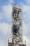 Vertikale Mittellinienwindturbine Stockbild