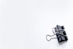 Vertikale Papierklammer Stockfoto