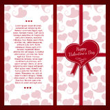 Vertikale Schablonenpostkarten Verziert mit einem Rot Lizenzfreie Stockfotos