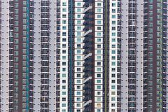 Vertikale Szene vieler Einheiten des Gebäudes lizenzfreies stockbild