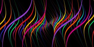 Vertikale Tangente kurvt Regenbogen-Farben Stockfotografie