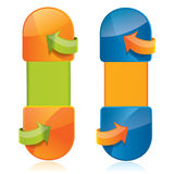 Vertikale Web-Artfahnen mit Pfeilen Stockfotografie