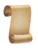 Vertikale Weinlesepapierrolle oder Pergamentrolle Stockfotos