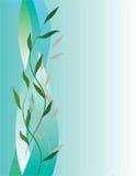 Vertikaler abstrakter Hintergrund mit Blättern vektor abbildung