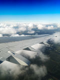 Vertikaler Jet-Flügelhintergrund Stockfoto