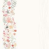 Vertikaler nahtloser Blumenhintergrund vektor abbildung