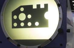 Vertikaler Profil-Projektor-Schirm lizenzfreie stockbilder
