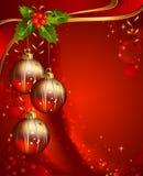 Vertikaler roter Weihnachtshintergrund Lizenzfreie Stockfotos