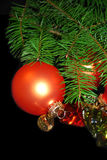 Vertikaler Weihnachtsaufbau. Stockbilder