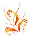 Vertikales Blumenmuster Lizenzfreies Stockfoto