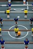 Vertikales Format des Foosball Spiels Stockfotografie