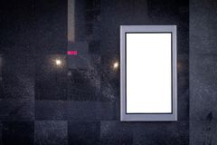 Vertikales LCD-Bildschirm-Anzeigen-Modell Schwarzer Marmorhintergrund Vektor Nichtraucher lizenzfreies stockbild