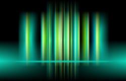 Vertikales Licht der Aurora des Vektors grüne Farb entziehen Sie Hintergrund vektor abbildung