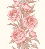 Vertikales nahtloses mit Blumenmuster lizenzfreie abbildung