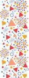 Vertikales nahtloses Muster der abstrakten Feier Lizenzfreie Stockbilder
