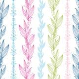 Vertikales nahtloses Muster der Blumenstreifen lizenzfreie abbildung