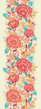 Vertikales nahtloses Muster der bunten vibrierenden Blumen Lizenzfreies Stockfoto