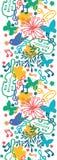 Vertikales nahtloses Muster der Frühlingsmusik-Symphonie Stockbild