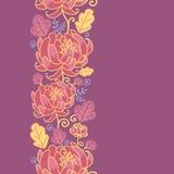 Vertikales nahtloses Muster der magischen Blumen stock abbildung