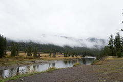 Vertikales Panorama von 3 HDR Bildern Stockbild