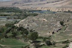 Vertikales Panorama von 3 HDR Bildern Stockbilder