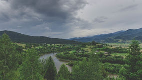 Vertikales Panorama von 3 HDR Bildern Lizenzfreie Stockbilder